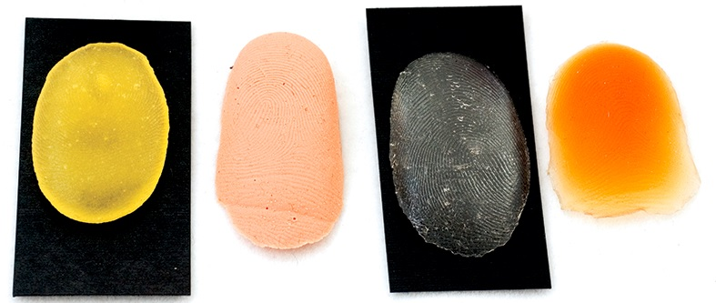 Fake Fingerprints from different materials